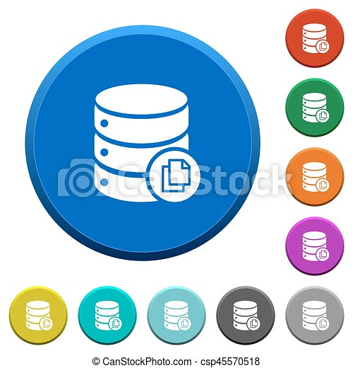 Copy database beveled buttons - csp45570518