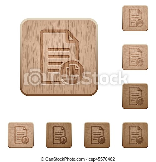 Copy document wooden buttons - csp45570462