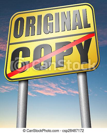 copy or original copycat or innovation - csp28487172