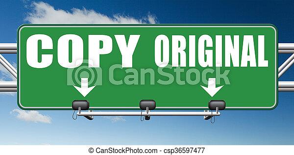copy or original copycat or innovation - csp36597477