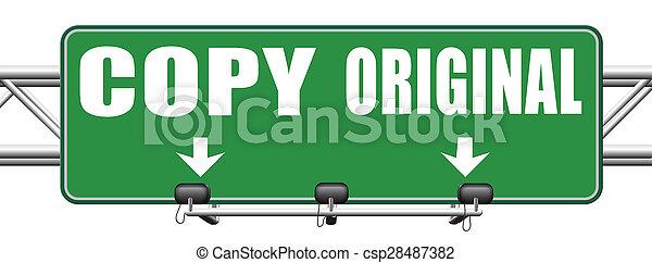 copy or original copycat or innovation - csp28487382