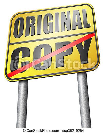 copy or original copycat or innovation - csp36219254