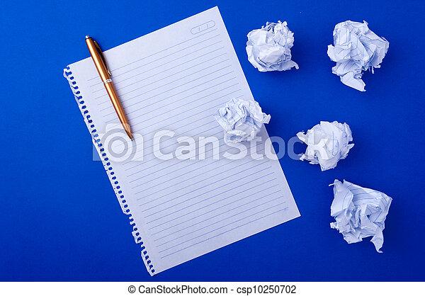 copybook, pluma, papel - csp10250702