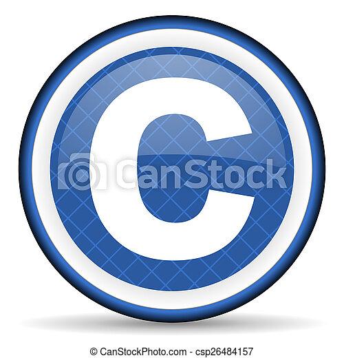 copyright blue icon - csp26484157