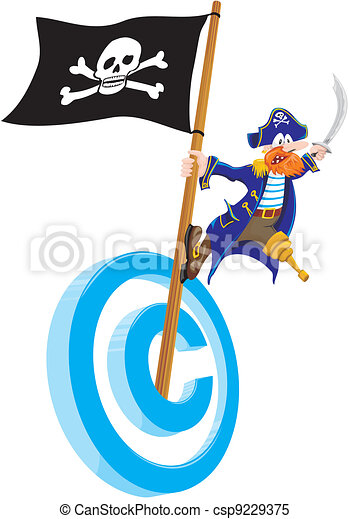 copyright piracy - csp9229375