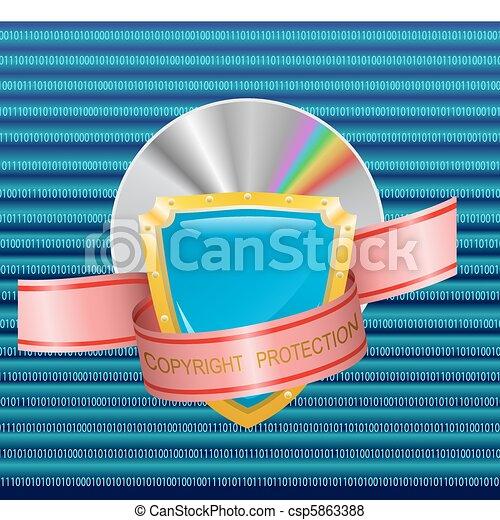copyright, protection. - csp5863388