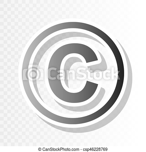 copyright sign illustration vector new year blackish icon on transparent background with transition