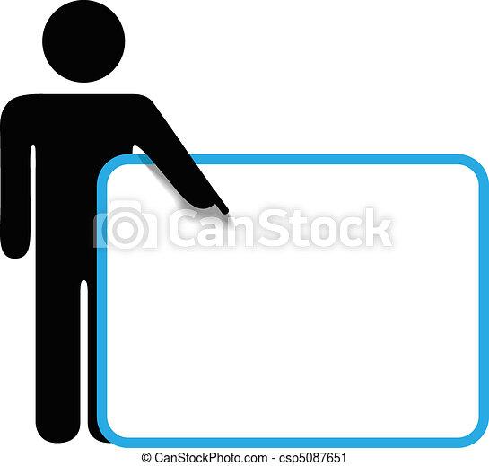La persona de Symbol pega figuras de los puntos de señal de los dedos - csp5087651