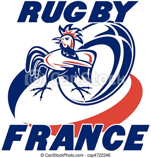 Coq coquelet balle rugby france balle rugby coquelet francais coq illustration mots - Dessin de joueur de rugby ...