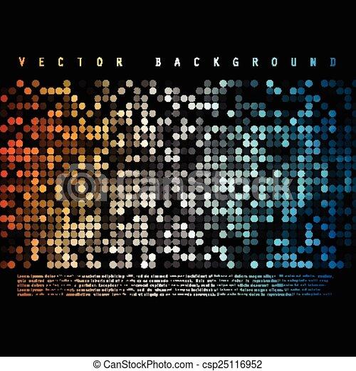 cor, coloridos, abstratos, vetorial, círculo, experiência. - csp25116952