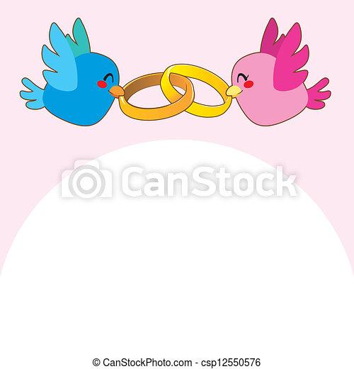 cor de rosa anéis acoplamento pássaro