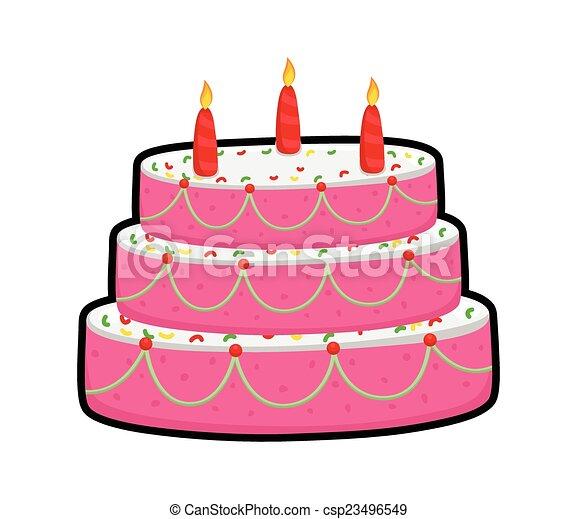 Cor De Rosa Bolo Desenho Abacaxi Velas Abstratos Aniversario