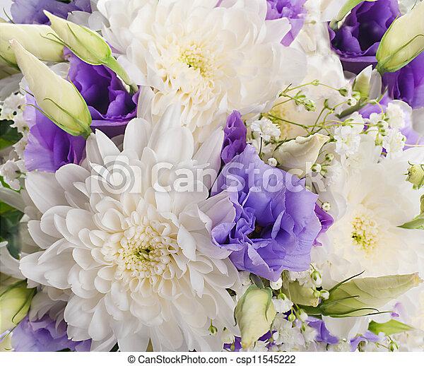 cor-de-rosa, buquet, nupcial, flores, branca - csp11545222