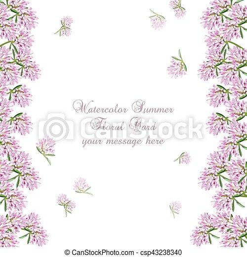 Cor De Rosa Cartao Flores Delicado Vertical Cor De Rosa