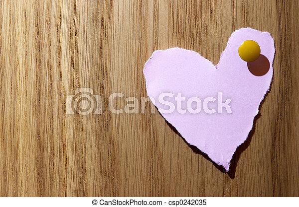 cor-de-rosa, coração - csp0242035