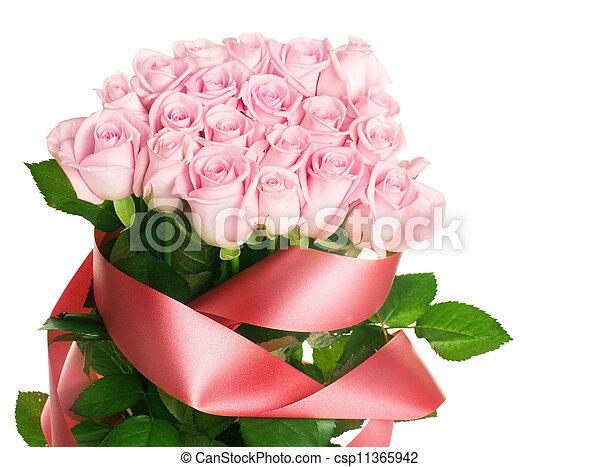 cor-de-rosa levantou-se, grupo - csp11365942