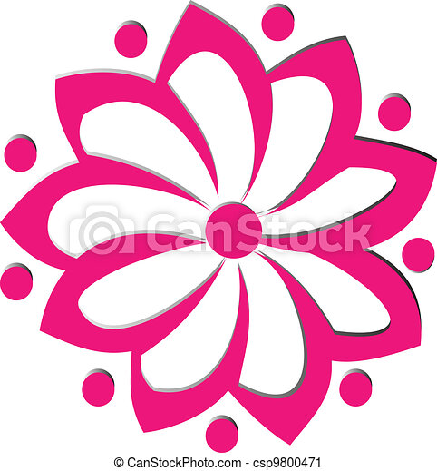 cor de rosa logotipo flor vetorial