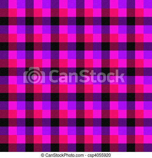 cor-de-rosa, roxo, seamless, experiência preta, cheque, vermelho - csp4055920