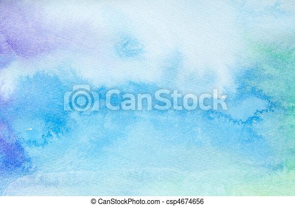 cor, golpes, quadro, arte, aquarela - csp4674656