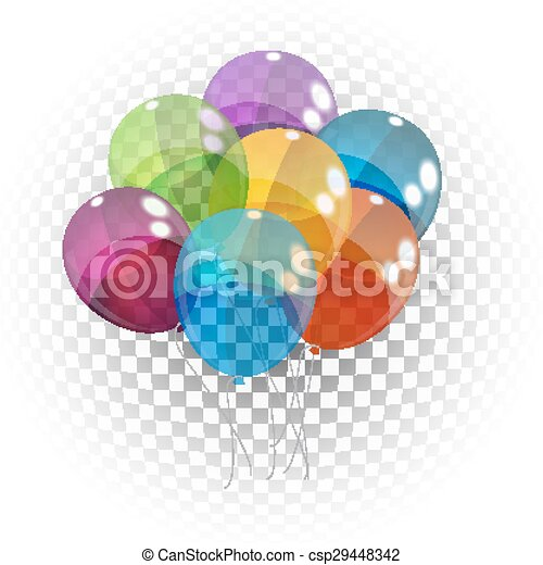 cor, ilustração, vetorial, lustroso, fundo, balões - csp29448342