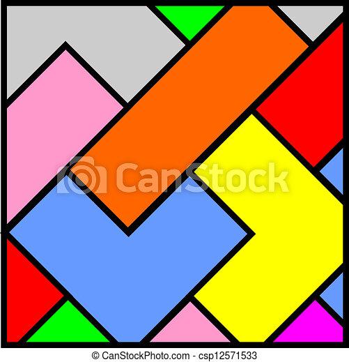 projeto cor mosaico criativo