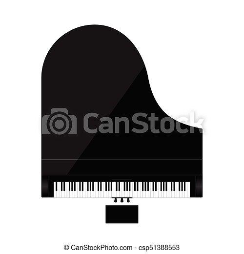 cor, piano, pretas, ilustração - csp51388553