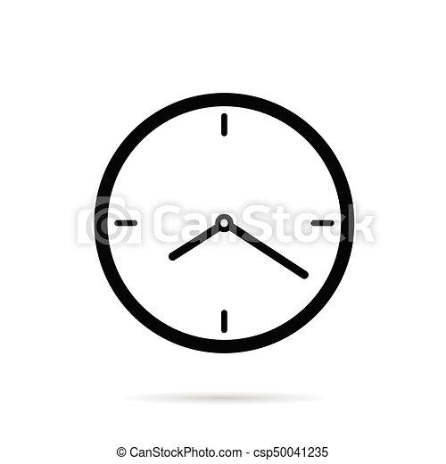 cor, pretas, ilustração, relógio - csp50041235