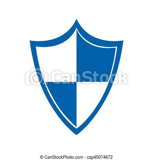 cor, proteção, silueta, escudo - csp45074672