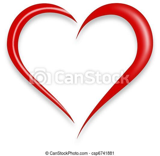 coração, amor - csp6741881