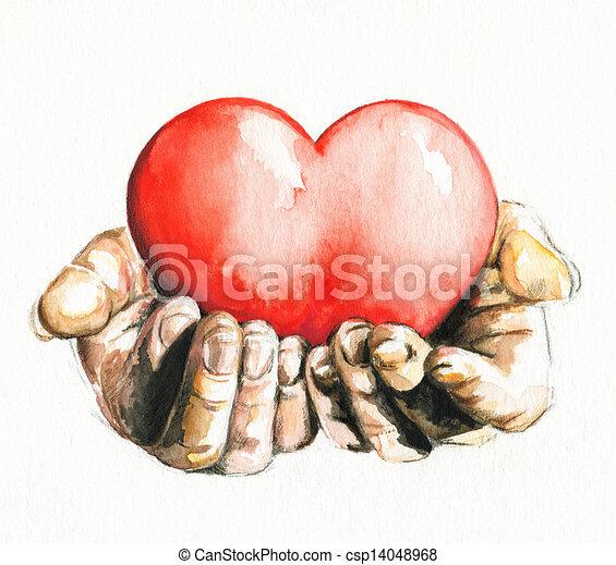 coração - csp14048968
