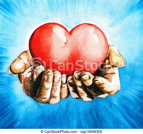 coração - csp14049359