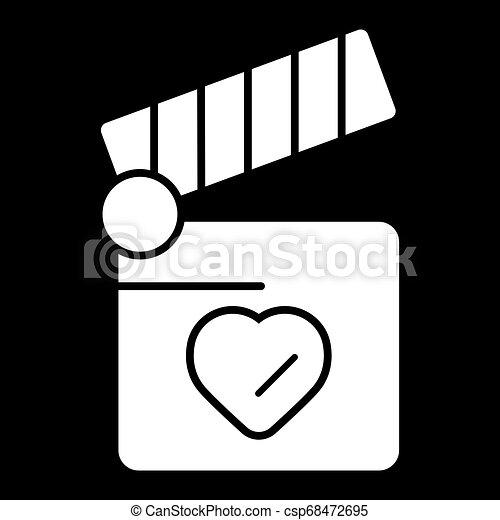 coração, conceito, amor, aplaudidor, símbolo., tábua, design. - csp68472695