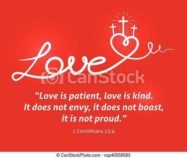 coração, cristão, crucifixos, fundo, amor, scripture, vermelho - csp40558583
