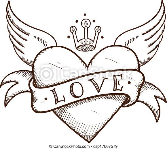 desenho de coração