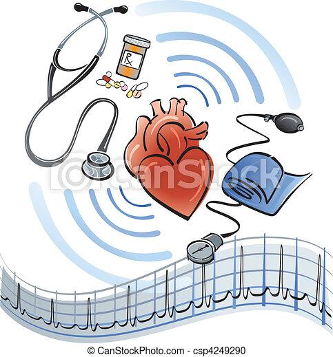 coração, cuidados de saúde - csp4249290