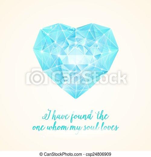 coração, diamante, seu, design. - csp24806909