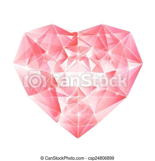 coração, diamante, seu, design. - csp24806899