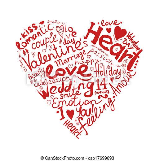 coração, esboço, desenho, seu, valentine - csp17699693