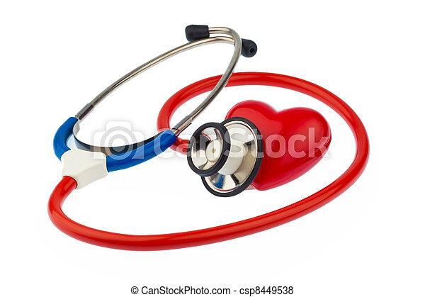 coração, estetoscópio - csp8449538