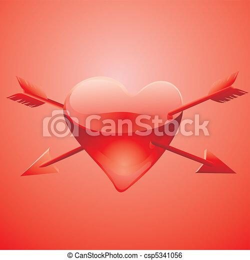 coração, ferido, vidro - csp5341056