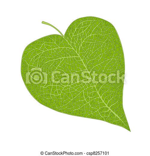 coração, folha, dado forma - csp8257101