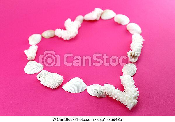 coração, formado, elementos, mar - csp17759425