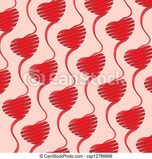 coração, fundo, ilustração, origami - csp12786666