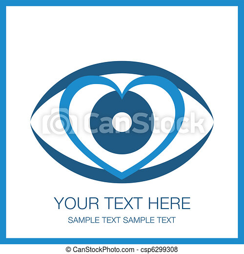 coração, golpear, olho, design. - csp6299308