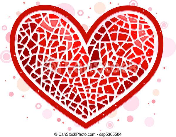 coração mosaico mosaico coração semelhante ilustração dado forma