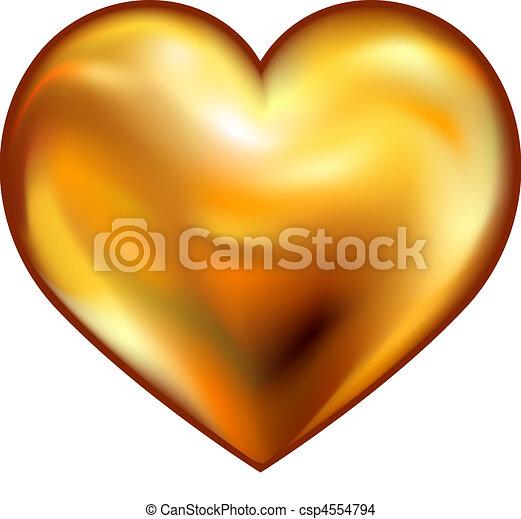 coração, ouro - csp4554794