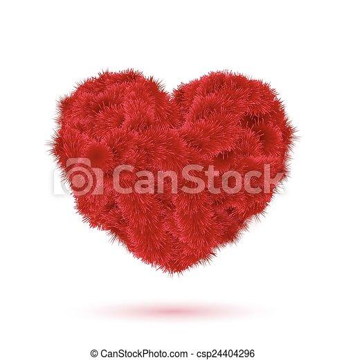 coração, pele, valentine, seu, vermelho, design. - csp24404296
