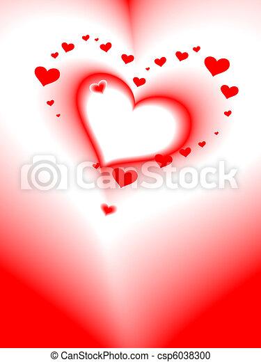 coração, romanticos, cartão, vetorial, valentine\'s, dia - csp6038300