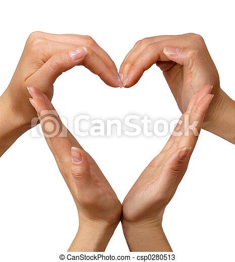 coração, símbolo - csp0280513