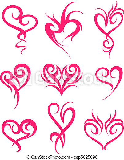 coração, símbolo, desenho - csp5625096